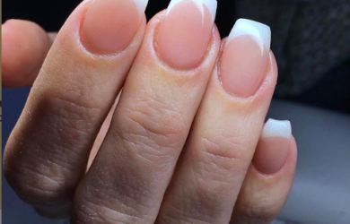 french manicure acryl